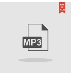 mp3 file icon vector image