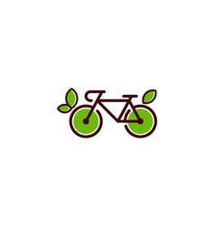 Nature bike logo icon design vector