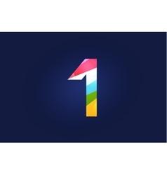 One 1 letter logo icon symbol vector