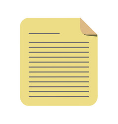 Paper page icon vector