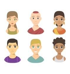 People nationality race vector image