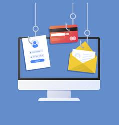 Phishing account concept vector