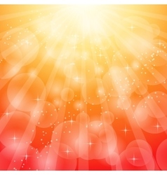 Red bright background with rays vector image