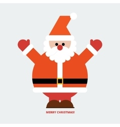 Santa Claus greeting card vector image