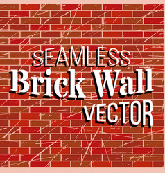 seamless brick wall pattern vector image