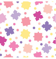 Seamless pattern with puzzle pieces vector
