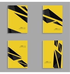 Set covers for magazine of black stripes vector