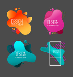 Set modern abstract liquid banners design vector