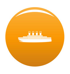 ship retro icon orange vector image