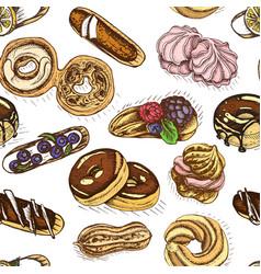 Sketch bakery vintag card vector