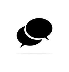 speech bubbles icon concept for vector image