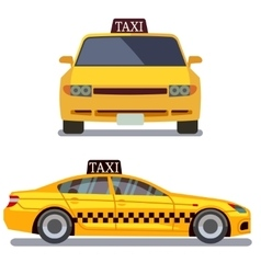 Taxi car on white vector