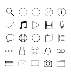 Thin line icons for Web vector image