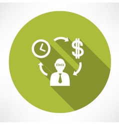 Time exchange to money vector image vector image