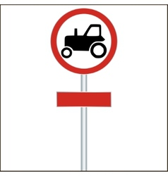 Tractor Sign on White - vector image