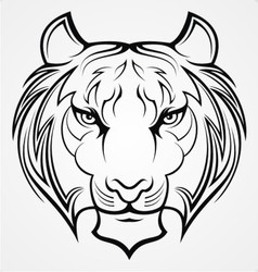 Tribal Tiger Face vector image