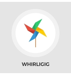 Whirligig flat icon vector