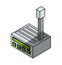 wifi router 3d vector image
