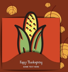 With thanksgiving and corn vector