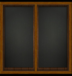 Wooden frame with board vector