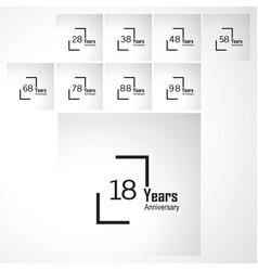Year anniversary template design box vector