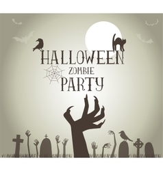 Zombie Party vector image