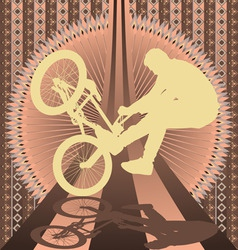 bmx biker vintage design vector image vector image