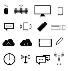 computer icon set in black color vector image vector image