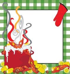 crawfish boil invitation vector image vector image