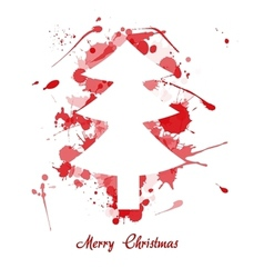 ink christmas tree vector image