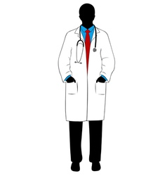 medical doctor silhouette vector image vector image