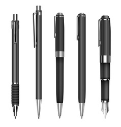 Pens and pencils vector image