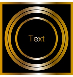 black and gold frame vector image vector image