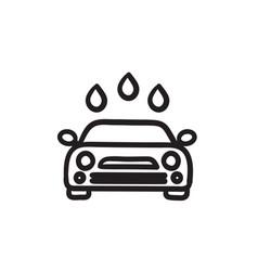Car wash sketch icon vector