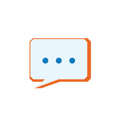 chat bubble speakbox vector image