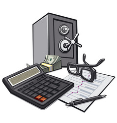 finance accounting of business vector image