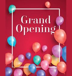 grand opening invitation with white frame and vector image