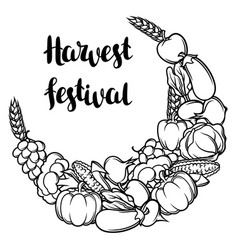 harvest decorative element autumn vector image