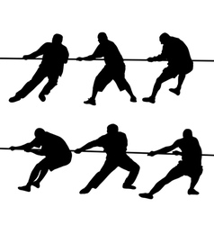 People pulling rope vector image vector image
