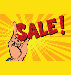 business concept sale hand gesture vector image