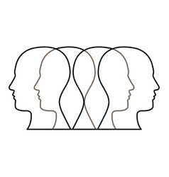 figure contour humans icon vector image vector image