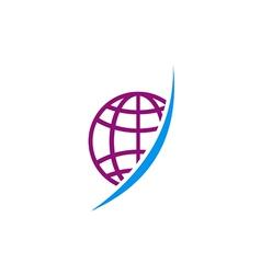 globe abstract technology logo vector image vector image