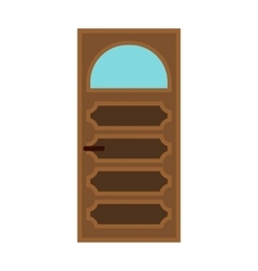 Interior door with glass icon flat style vector image vector image