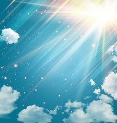 Magic sky with shining stars and rays of light vector image vector image