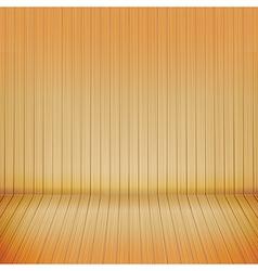 Brown wood floor with wood background empty room vector image vector image