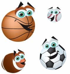 crazy sports balls vector image vector image