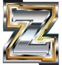 Fancy font Letter Z vector image