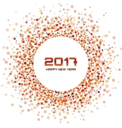 Red Circle New Year 2017 framewhite Background vector image vector image