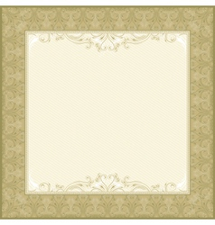 square beige background with decorative ornate vector image vector image