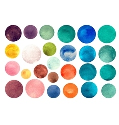 Watercolour circle textures vector image vector image